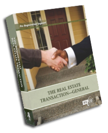 Real Estate Transaction General Course Book Cover
