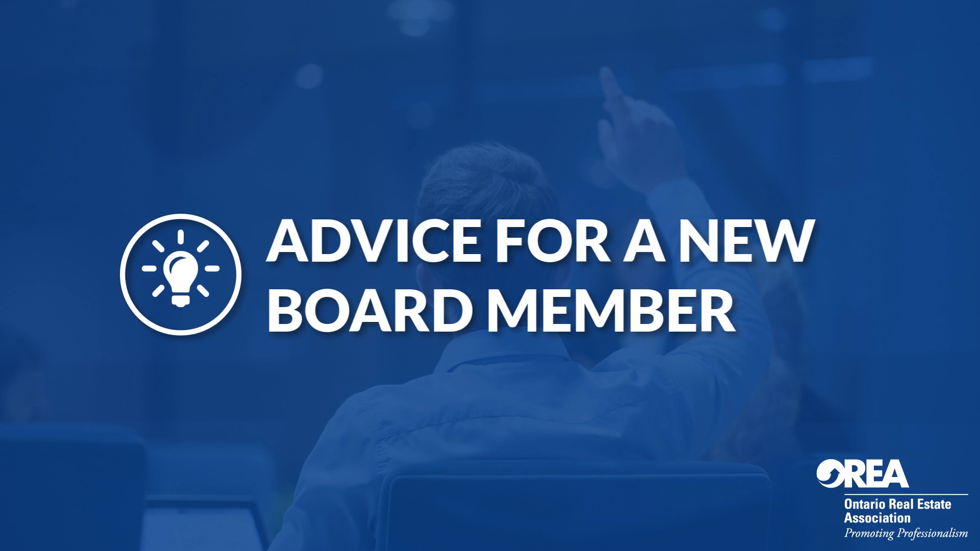Advice For a New Board Member Video Thumbnail